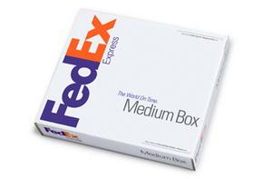 FedEx Medium Box - средний бокс для папок, книг или больших документов.