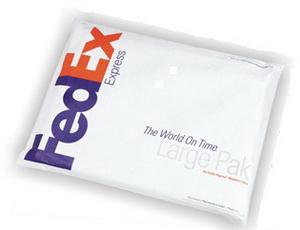FedEx Pak - водонепромакаемая упаковка стандартного размера специально для больших документов и других компактных вещей